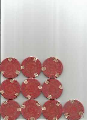 (10) $5 opry house hotel obsolete casino chips las vegas nv lot