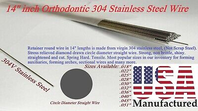 """14"""" Orthodontic Stainless Steel Straight Wire -Pick your size today ! -Free Ship"""