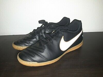 f04541a84 Nike Tiempo Rio III IC 819234 010 Black/ White Men's Indoor Soccer Shoes  Size 12