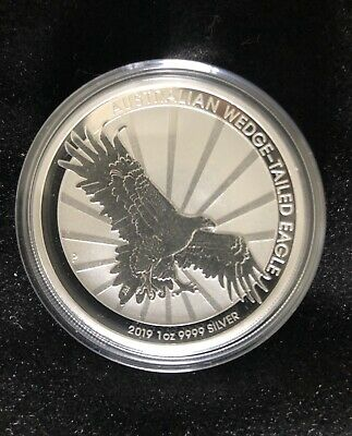 2019 Pure Silver Australian Wedge Tailed Eagle Perth Mint Coin