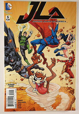 JLA Justice League of America #5 Looney Tunes Variant VF/NM 1st DC Hitch 2015