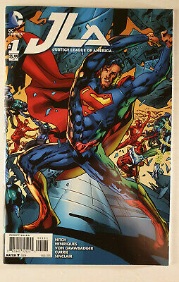 JLA Justice League of America #1 VF Superman Cover 1st Print DC Hitch 2015