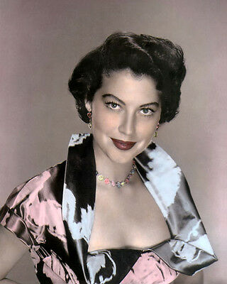 "AVA GARDNER, 2 HOLLYWOOD ACTRESS & MOVIE STAR 8x10"" HAND COLOR TINTED PHOTOGRAPH"