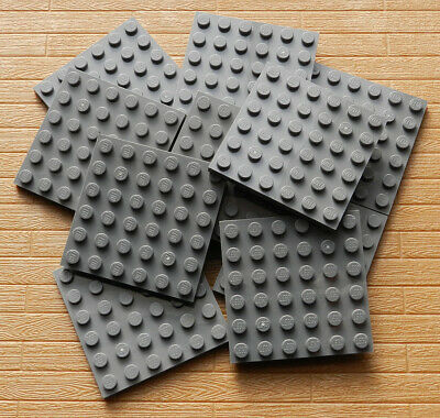 LEGO Lot of 2 Dark Gray 6x6 Flat Building Plate Pieces