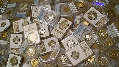 *Deluxe Coin Lot* Huge Variety - AT LEAST 8 DESIGNS - NGC / PCGS Silver, Proof!!