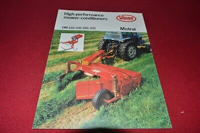 VICON DISC MOWER Mower Conditioner Dealers Brochure CDIL