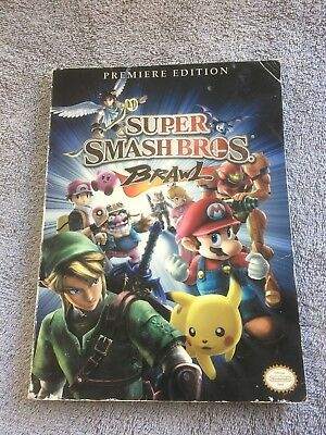 Nintendo Super Smash Bros Brawl Premiere Edition Prima Game Guide Book ~ PB A