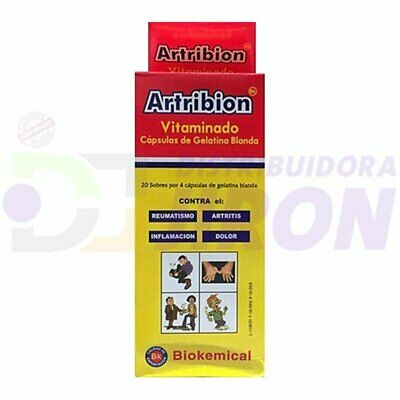 80 Artribion VItaminado  20 Packs of 4 Pills  ORIGINAL FREE SHIPPING