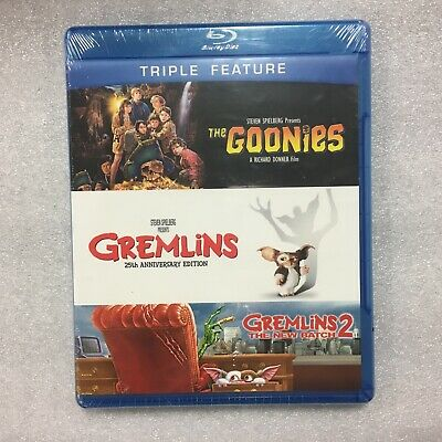 The Goonies / Gremlins / Gremlins 2,(Blu-ray Disc, Triple Feature)**New**