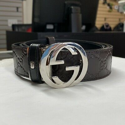 15caff4f2e48 GUCCI BELT Reversible Black and Navy 449715 Size 38 NWT -  405.00 ...