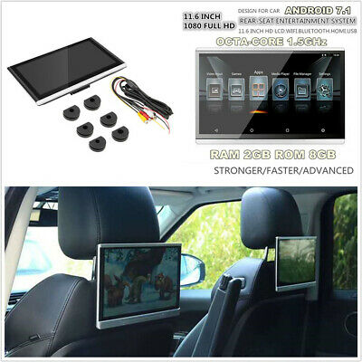 "1 Pcs HD 1080P 11.6""Android 7.1 Car Headrest Rear Seat Monitor FM HDMI 3/4G Wifi"