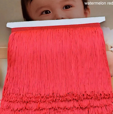 Watermelon Red 15cm Braid Trim Tassel Fringe Lace DIY Craft Price per 30cm Decor