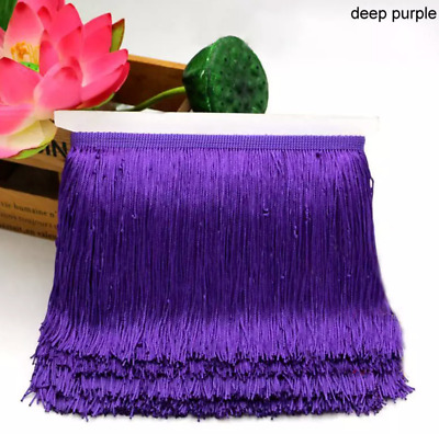 Purple 15cm Braid Trim Tassel Fringe Lace Price per 30cm DIY Craft Clothing