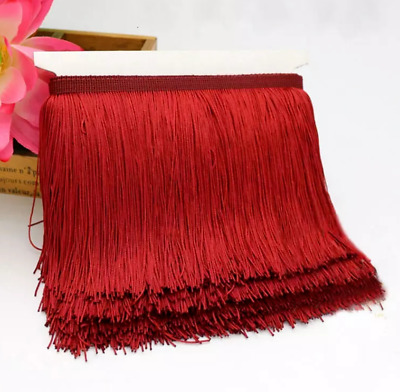 Burgundy 15cm Braid Trim Tassel Fringe Lace Price per 30cm DIY Craft Clothing