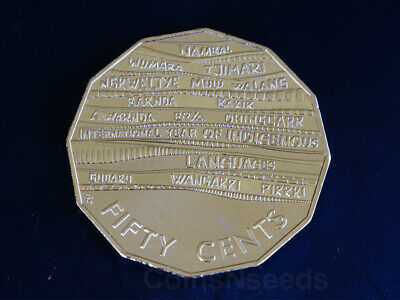 50 Cent Coin - 2019 International Year of INDIGENOUS LANGUAGES 50c Frosted UNC