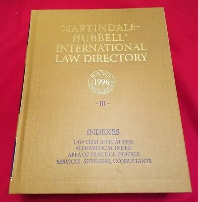 MARTINDALE-HUBBEL LAW DIRECTORY Volume 5 - $30 00 | PicClick