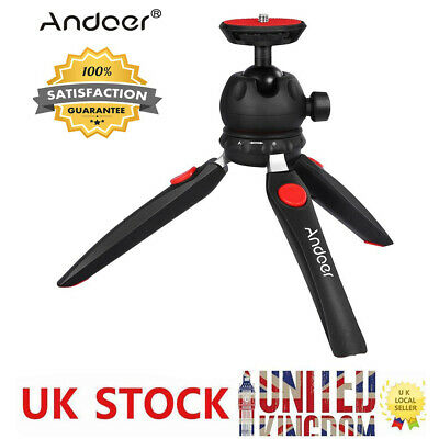 "Andoer H20 Mini Tripod Tabletop with 1/4"" Mounting Screw for DSLR Cameras G0T6"