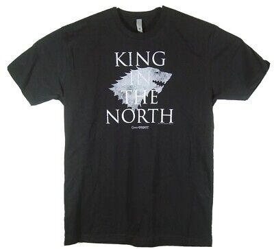 Game of Thrones King in the North Stark Direwolf T-Shirt Adult Large VGUC