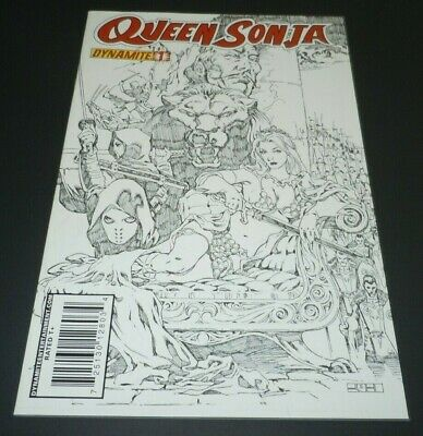 Queen Sonja #1 Dynamite VARIANT Sketch Cover Mel Rubi Red 1st Print First 1:25