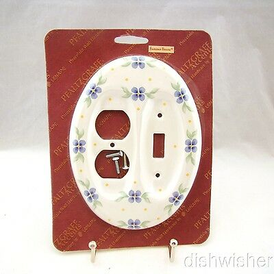 Pfaltzgraff Lenape SUMMER BREEZE Oval Combo Switchplate NEW IN PACKAGE