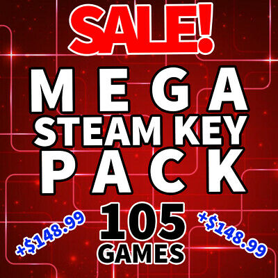 Random Steam Keys - MEGA Steam Key Pack - 105 GAMES - INSTANT DELIVERY
