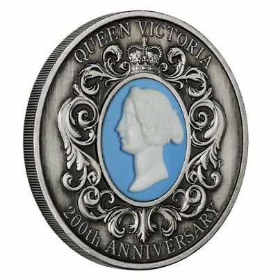 Queen Victoria 200th Anniversary 2019 2oz Silver Antiqued Cameo Coin