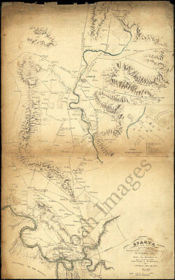 Map of Sparta and its vicinity TN c1863 repro 15x23