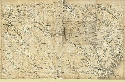 Map of GA and SC c1865 repro 36x24