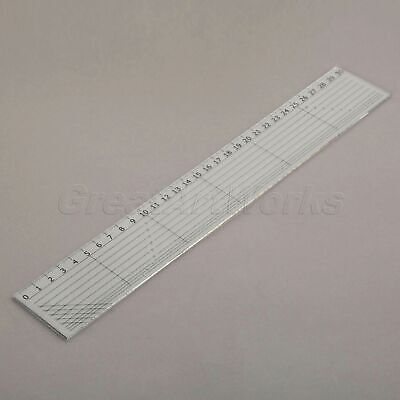 Black Scale Transparent Sewing Quilting Patchwork Ruler Easy Grid Tool 30x5cm