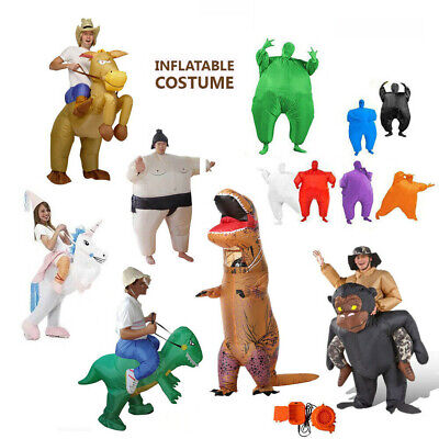 Inflatable Cowboy/Gorilla/Dinosaur/SUMO/UNICORN/Masked Suit Party Costume Fancy