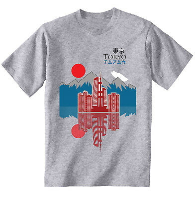 Tokyo city Japan - NEW COTTON GREY GREY TSHIRT