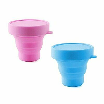 2pc Collapsible Silicone Cup Foldable Sterilizing Cup for Menstrual Cup Moon Cup