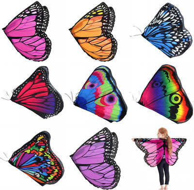 Baby Kid Girl Child Fairy Butterfly Wings Princess Shawl Cape Cloak Costume Prop
