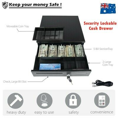 Electronic/Manual Security Lockable Cash Box Tray Money Drawer Safe Storage Keys