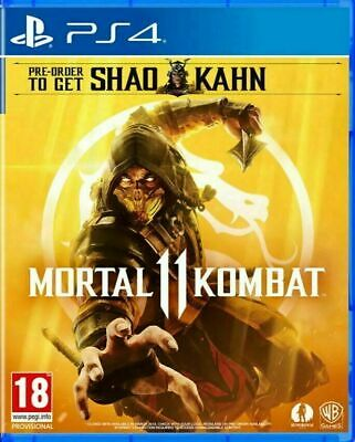 Mortal Kombat 11 PS4 NEW SEALED DISPATCHING TODAY ALL ORDERS PLACED BY 2 P.M.