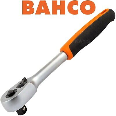 "Bahco 1/2"" Square Drive Quick Release Reversible Ratchet 60 Teeth Professional"