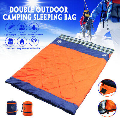 Double Outdoor Sleeping Bag Bags Double Camping Hiking -20°C Tent Winter Thermal