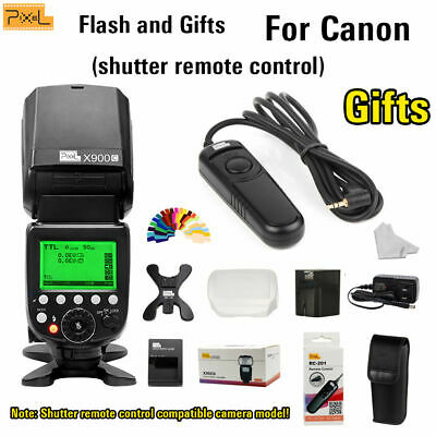 Pixel X900C Speedlite High speed sync+N3 shutter remote control For Canon EOS 1D