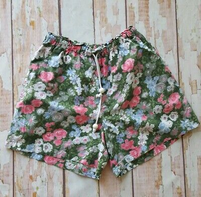 Vintage 80s 90s Floral pattern print high waist shorts S M