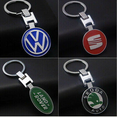 Fashion Zinc Alloy Car Logo Keychain Metal Emblem Pendant Key Holder Keyring