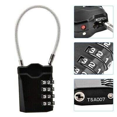 TSA Security 4 Combination Travel Suitcase Luggage Bag Code Lock Padlock