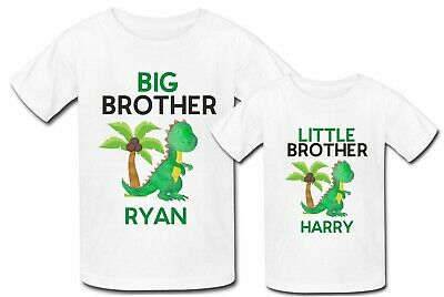 41992c26b Personalised Big Brother little brother Baby Dino Dinosaur t shirt tshirt  top