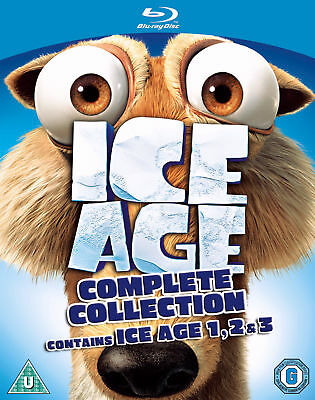 Ice Age 1-3 Collection Blu-ray New & Sealed 5039036042314