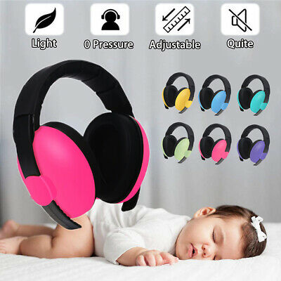 Adjustable Baby Ear Muffs Earmuffs Noise Reducing Sleeping Hearing Protection ☆