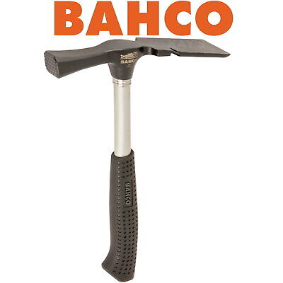BAHCO 600g 21oz BRICKLAYERS HAMMER STEEL SHAFT RUBBER GRIP HANDLE CHISEL END,486