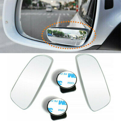 2X Universal Car Auto 360° Wide Angle Convex Rear Side View Blind Spot Mirror UK