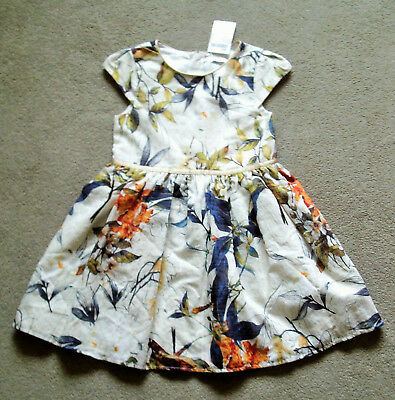 Girls Short Sleeved Floral Patterned Dress by NEXT 6 Years 116 cms  BNWT