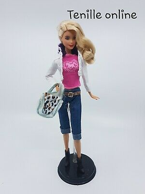 New Barbie clothes complete outfit jeans pants white jacket horse shirt
