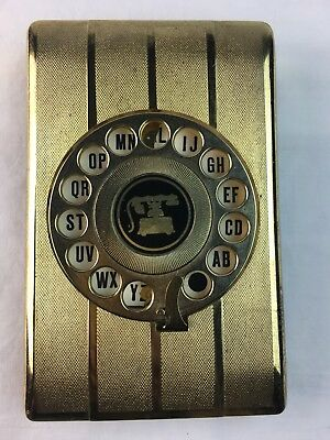 Metal Telephone Address Book Vintage 1960s Rotary Dial Pop Up Original Pages