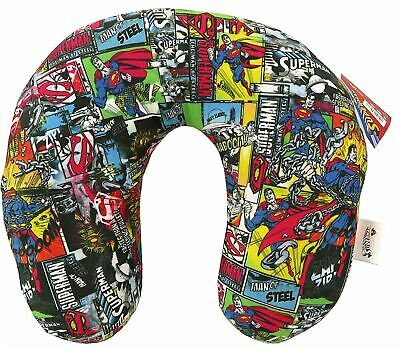 Official Superman U-neck Childrens Travel Cushion Comic Strip Design-32cms